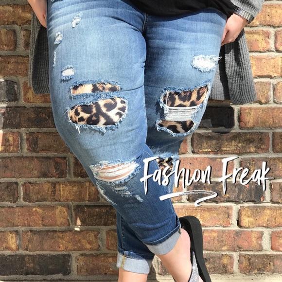 28564fa168 Jeans | Plus Size Animal Print Distressed Skinny | Poshmark